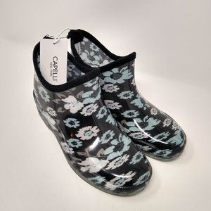 Capelli of New York Floral Rain Booties